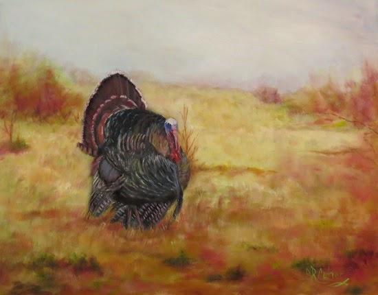 """Rio Grande"" , a turkey in oils by Sandra Cutrer"