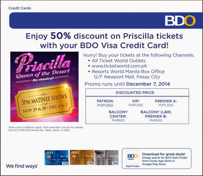 50% OFF on PRISCILLA TICKETS!