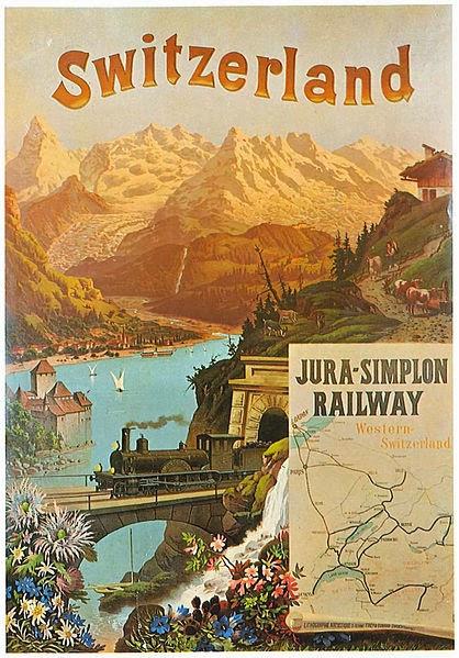 http://commons.wikimedia.org/wiki/File:Plakat_Jura-Simplon-Bahn_1890.jpg