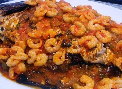 Receita de Peixe ao Molho de Camarão