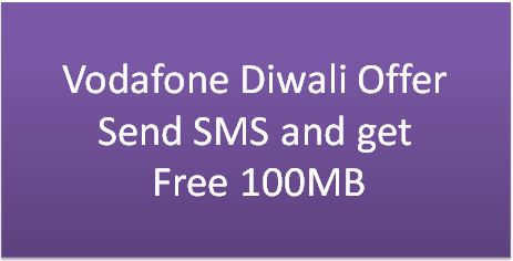 Free 100 MB Vodafone Diwali Offer