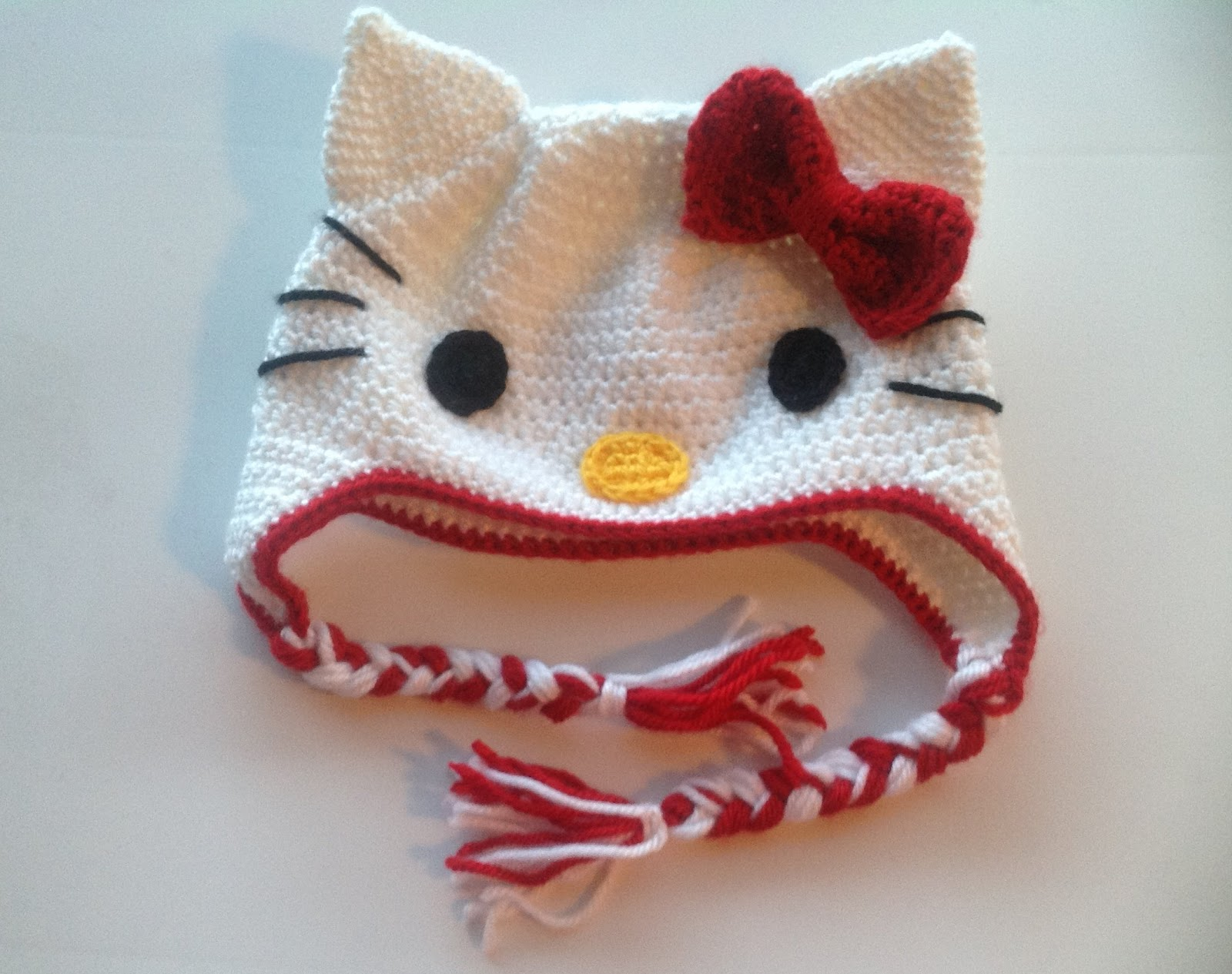 Free Crochet Pattern For A Hello Kitty Hat : Craft Notes: Made: Hello Kitty Crochet Hat