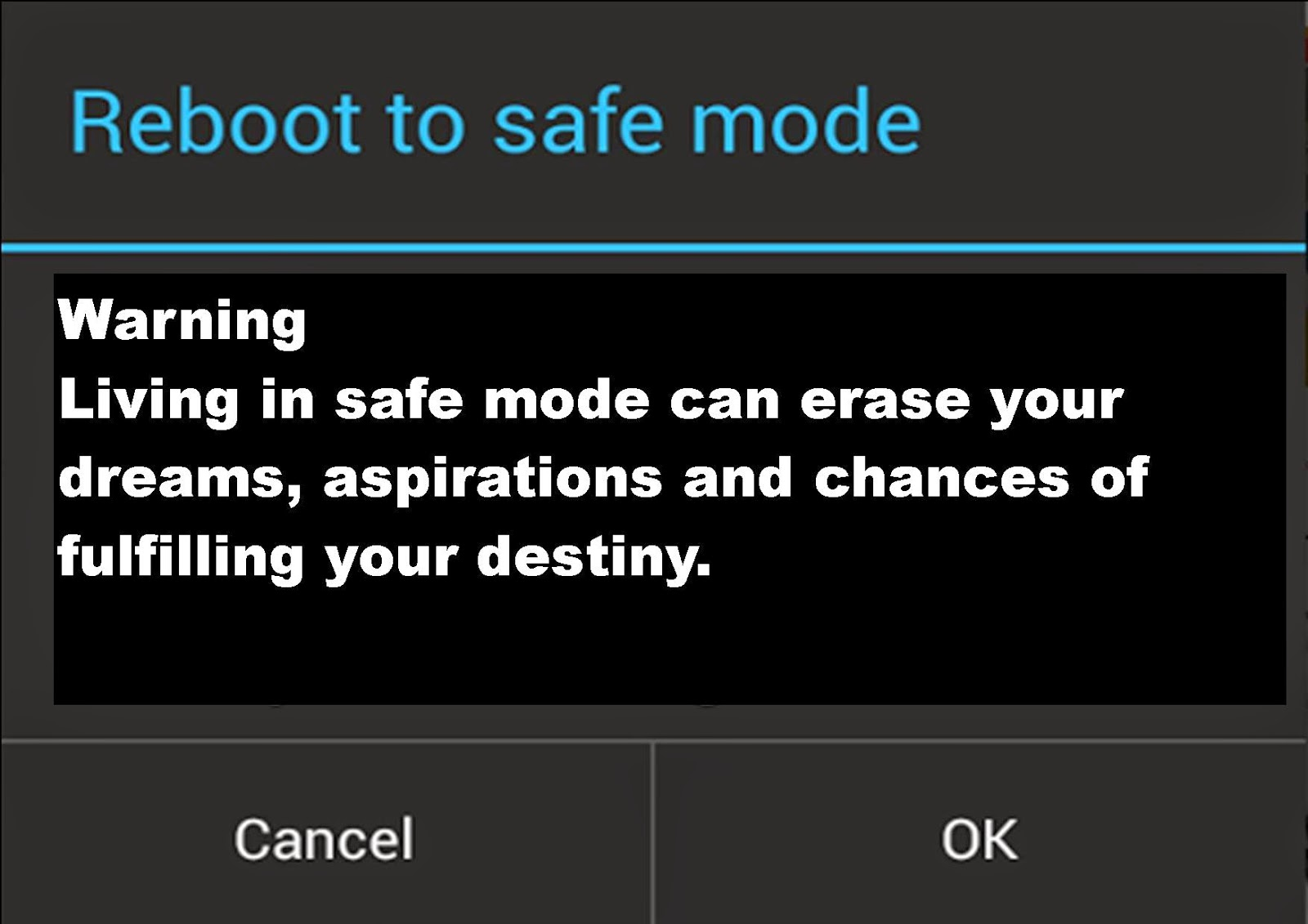 how to get safe mode off