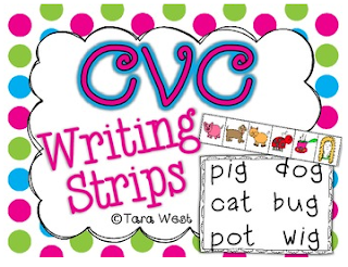 http://www.teacherspayteachers.com/Product/CVC-Writing-Strips-999395