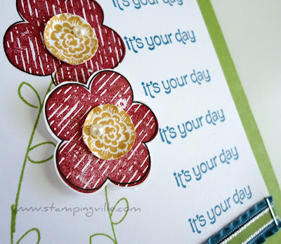 Raining Flowers Stamp Set by Stampin' Up! flower detail