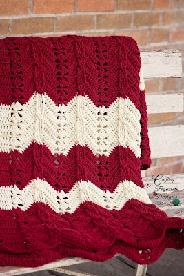 Classic Cable Chevron Afghan Crochet Pattern