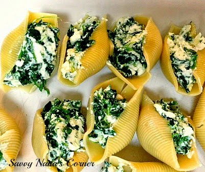 Spinach & Cheese Stuffed Pasta Shells