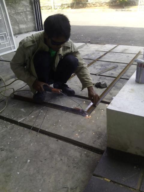 proyek membuat tralis dan kanopy bengkel las bogor