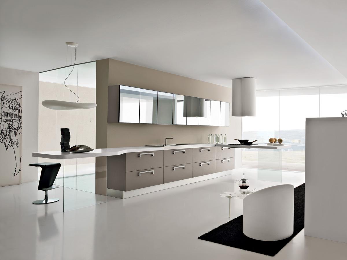 Una cocina independiente en el sal n cocinas con estilo - Campana de la cocina ...