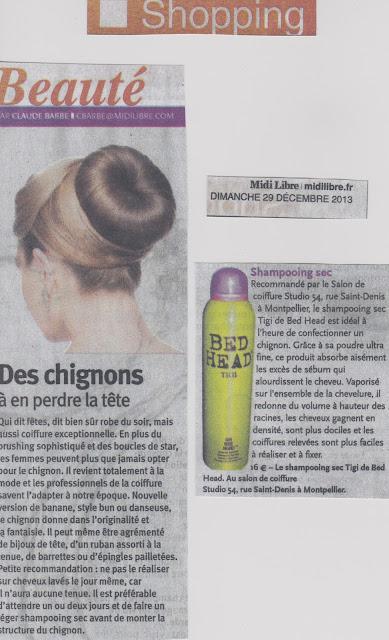 Parution page shopping du Midi-Libre du 29 décembre 2013.