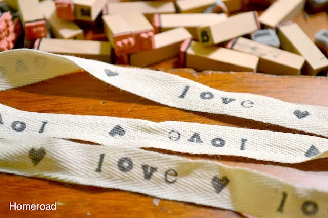 print your own text on cotton ribbon  www.homeroad.net
