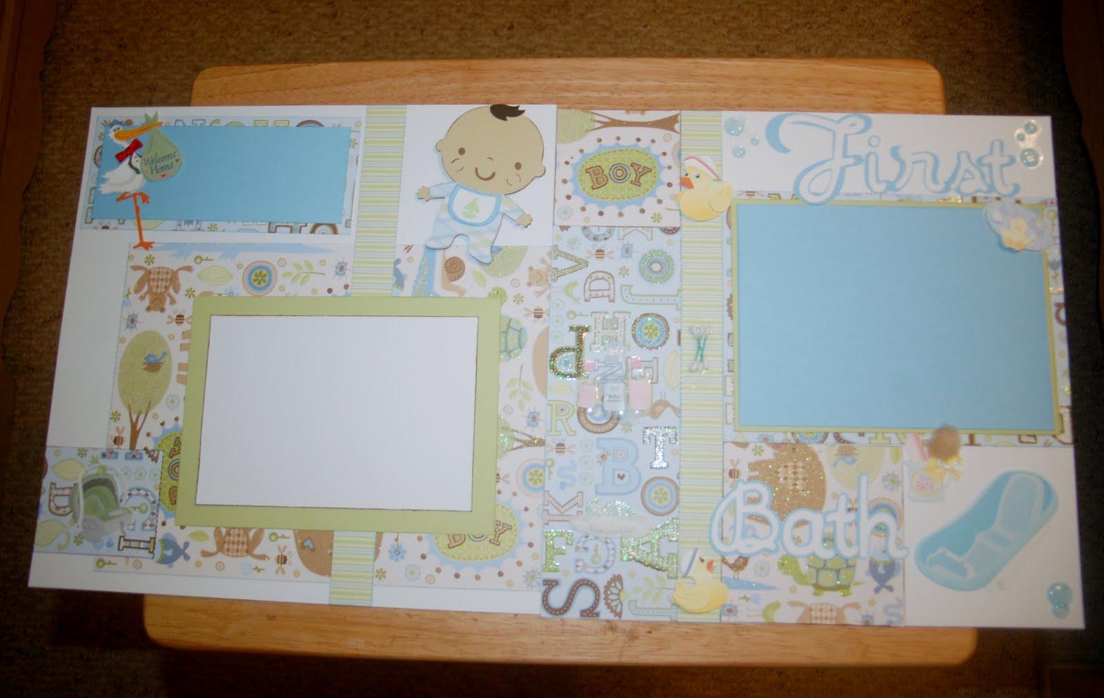 How to scrapbook a baby album - Baby Boy Scrapbook Album