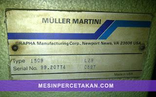 MULLER MARTINI Mesin jahit kawat 2 mata + mesin potong 3 sisi | Serial Number
