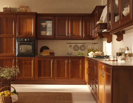 Fotos y dise os de cocinas en madera ideas para decorar for Cocinas integrales clasicas