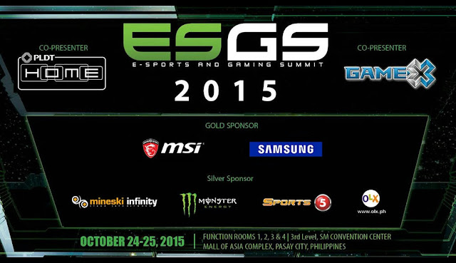 ESGS 2015 Goes Full Throttle, Happens at SMX MOA this October 24 -25