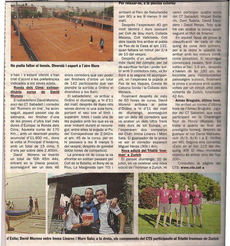 Runners online runners online a la premsa de - Sabadell on line ...