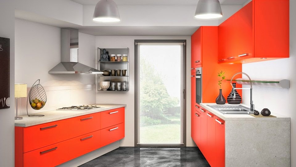 kitchen design ideas with orange kitchen cabinets