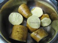 2 Sakkaravalli Kizhangu Fry | Sweet Potato Fry
