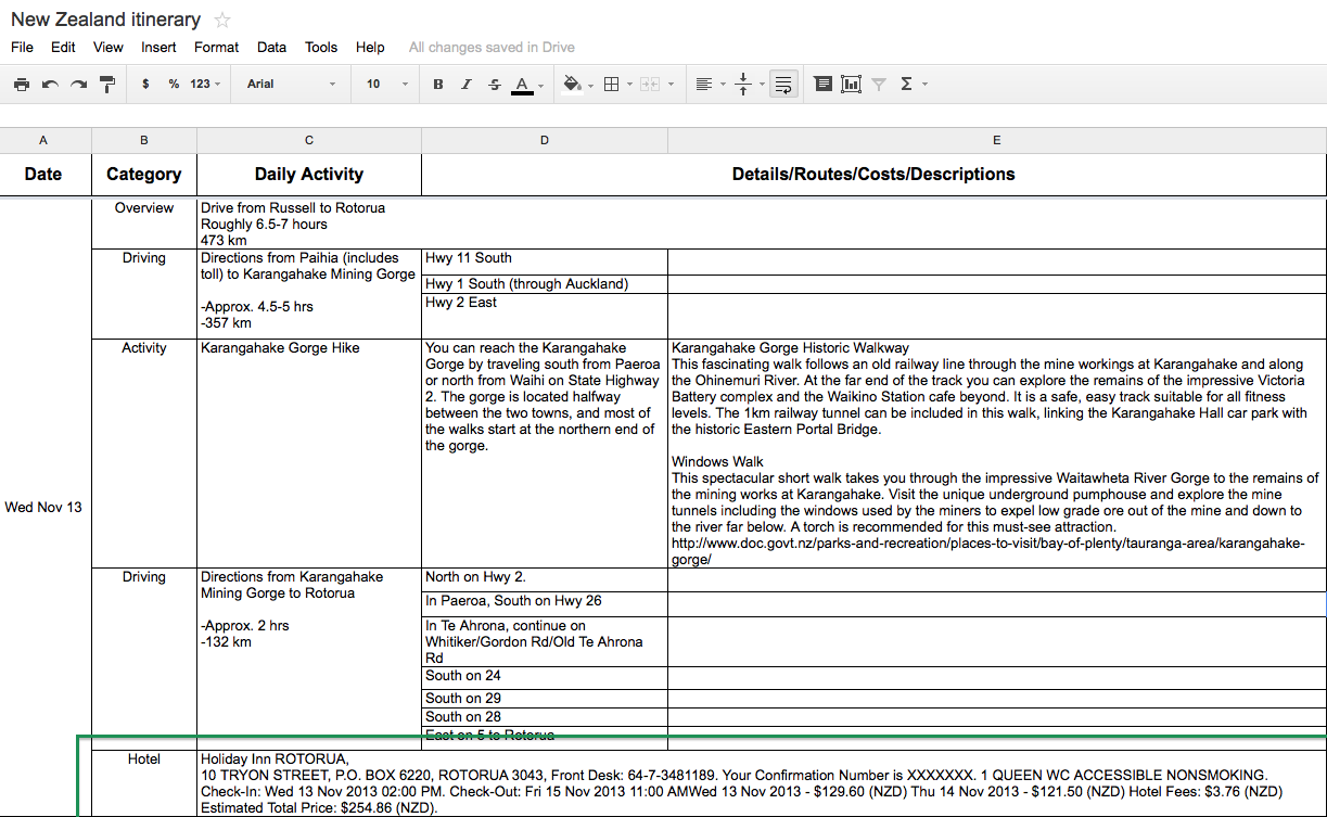 travel agent itinerary template