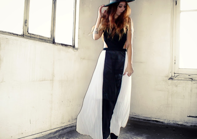 black white maxi dress outfit ideas