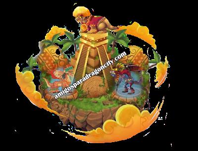imagen de la isla azteca de dragon city