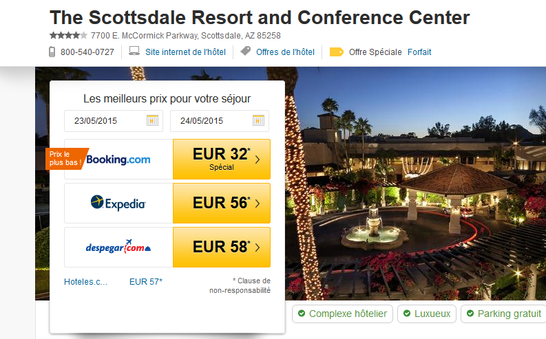 Scottsdale Resort error fare