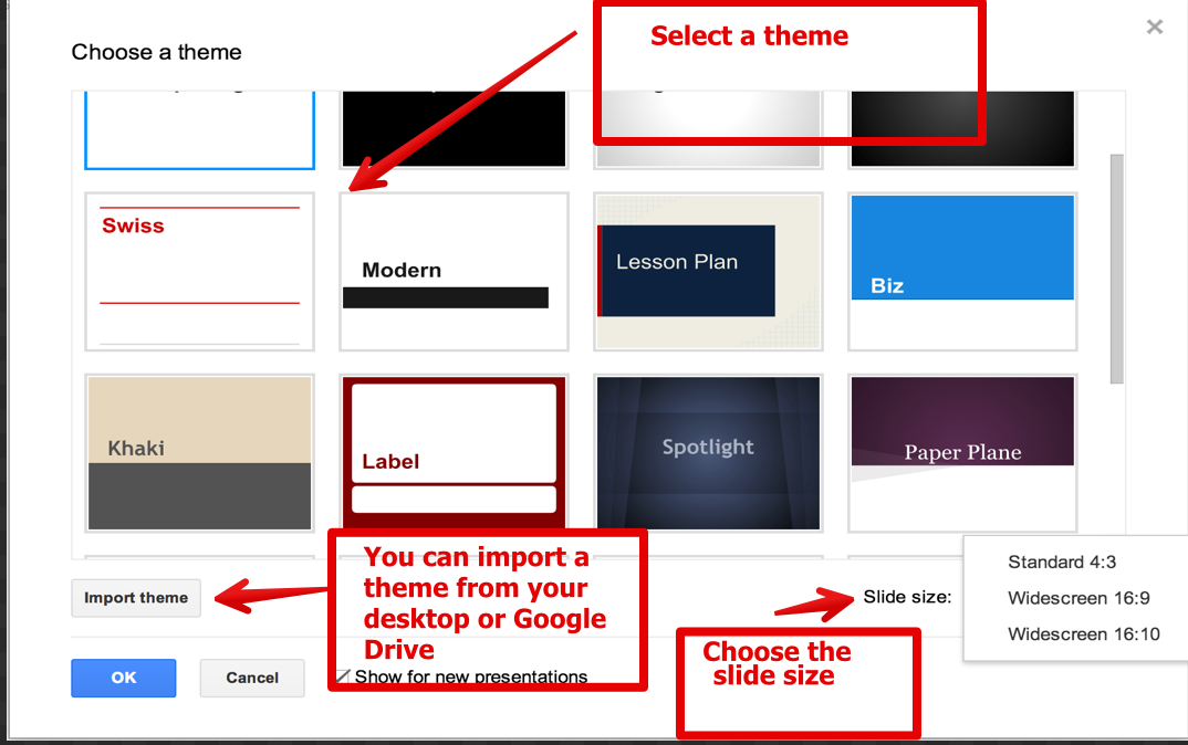 how to make a slide show in google slides