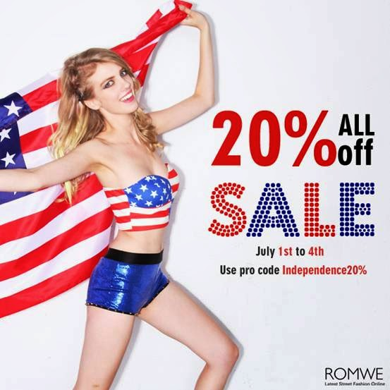 Romwe Independence Day Sale