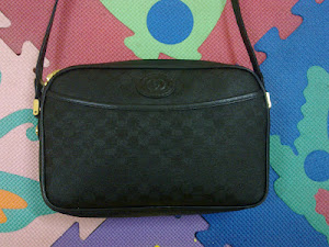 Gucci Black Monogram GG Shouldar Bag(SOLD)
