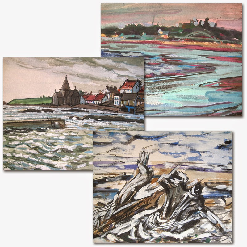 Landscape set of 3 prints by Char Fitzpatrick