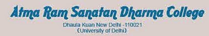 Assistant Professors Required at Atma Ram Sanatan Dharma College (ARSDD) Delhi University, Recruitment 2015