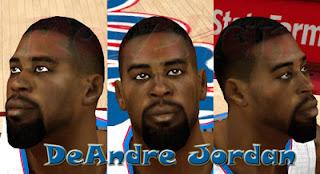 NBA 2K13 DeAndre Jordan Cyber Face Mod