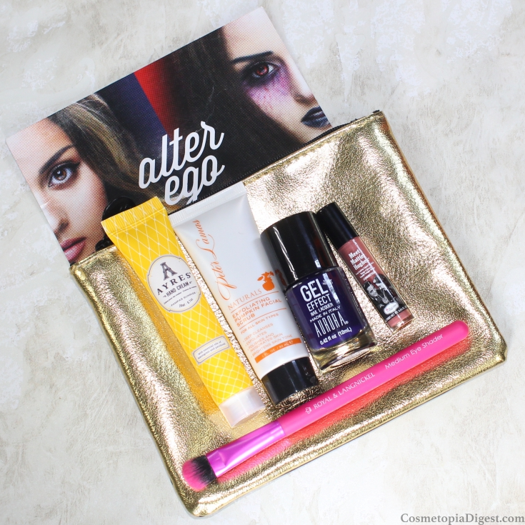 Here is what I got in my Ipsy Alter Ego Glam Bag for October 2015.