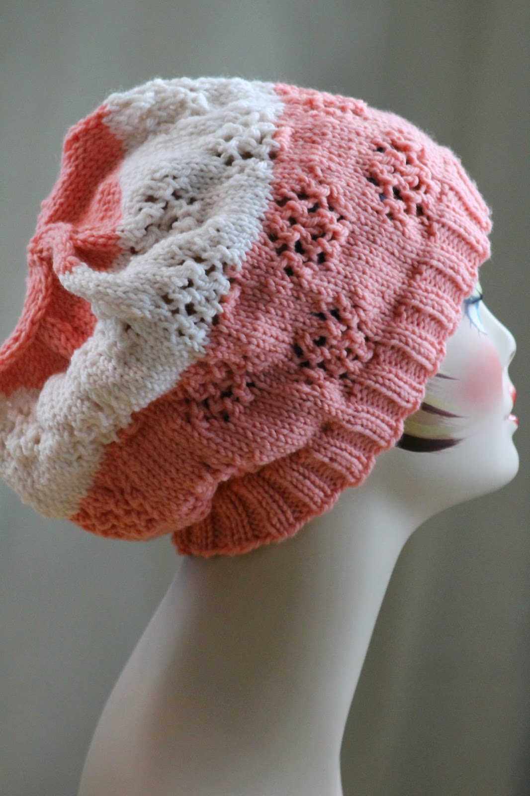 Balls to the Walls Knits: Butterfly Eyelet Hat