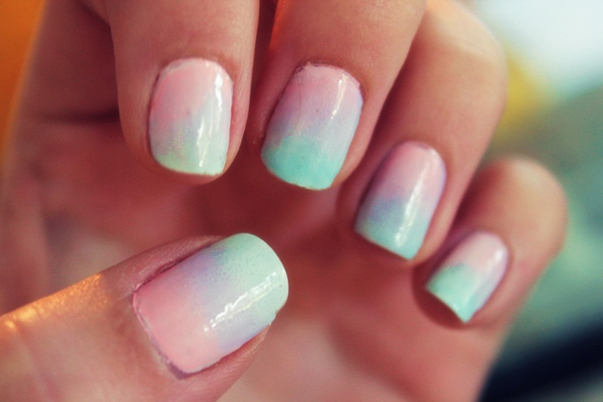 Ombre Nails Pink And Blue Pink And Blue Ombre Nails
