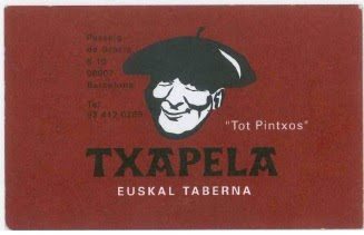 imagen Tarjeta taberna Txapela, Barcelona