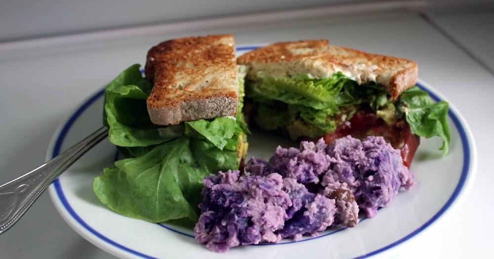 Christine Cooks: Purple Potato Salad with Kalamata Olives and Smoked ...