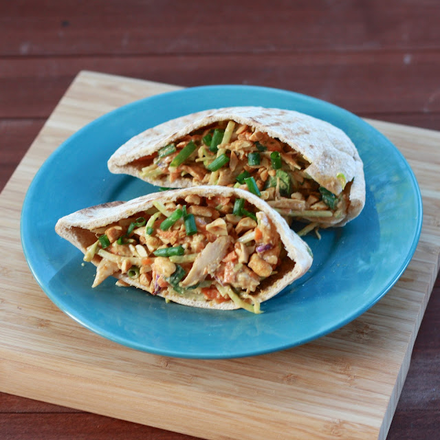 Thai Chicken Salad Pitas | The Sweets Life