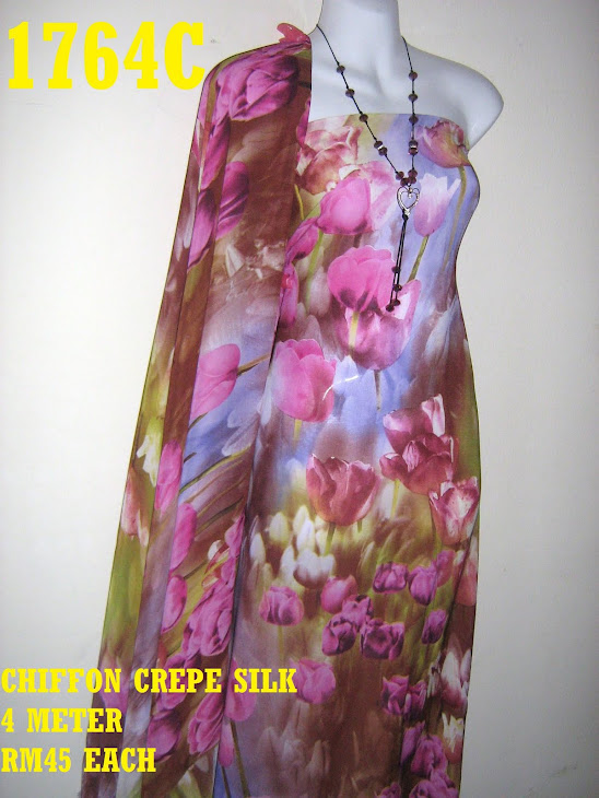 CCS 1764C: CHIFFON CREPE SILK, 4 METER