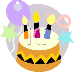 Cake And Balloons Clipart : The Write Eye