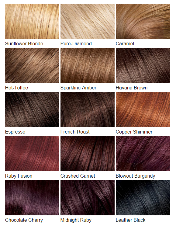 Hair Color Charts Know Your Next Shade – Hair Color Chart