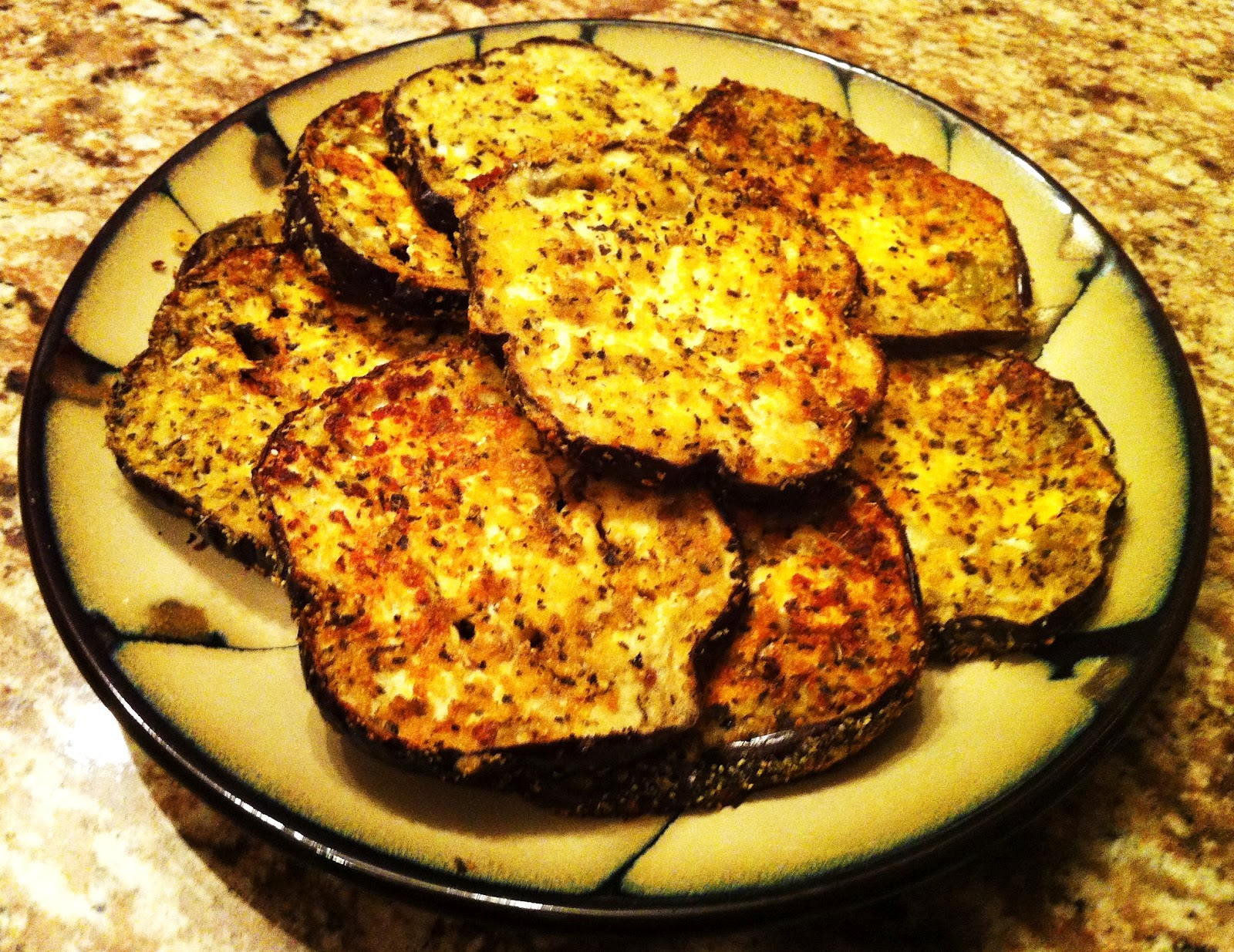 Delaine's Skinny Delights: Baked Eggplant With Parmesan