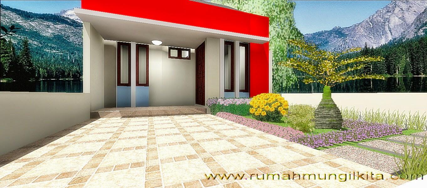 Renovasi rumah tipe 48 tanah 93 lebar 6 m - tampak depan rumah
