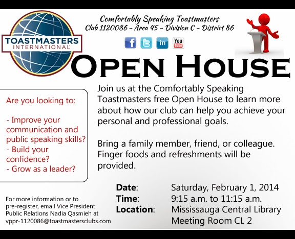 Open house flyer template comfortably speaking toastmasters hosts open house maxwellsz