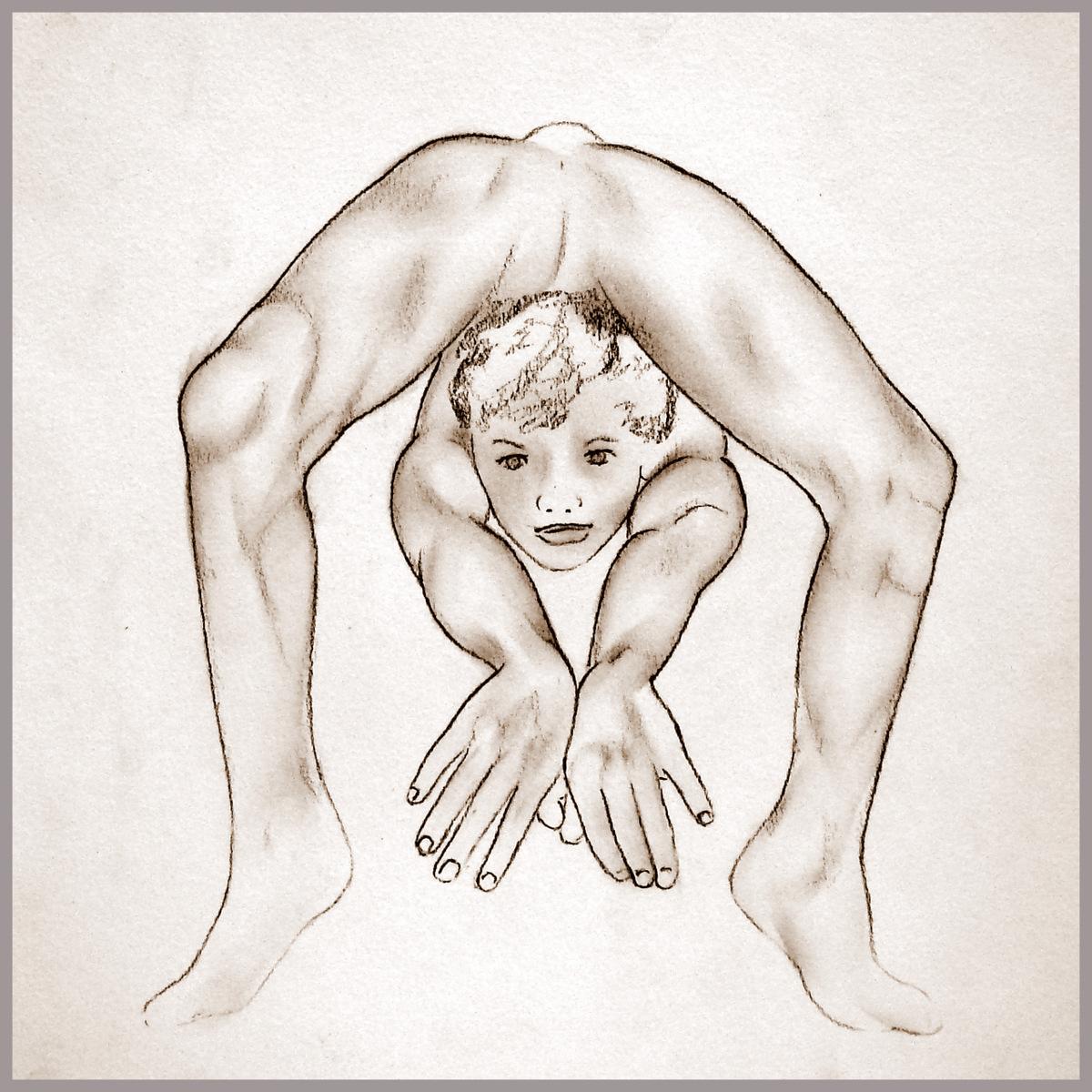 Sportzeichnung: Kontorsionismus zeichnen