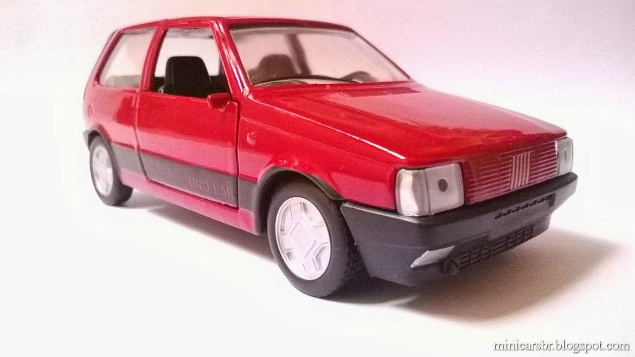 minicarsbr  miniatura nacional  fiat uno 1 5r