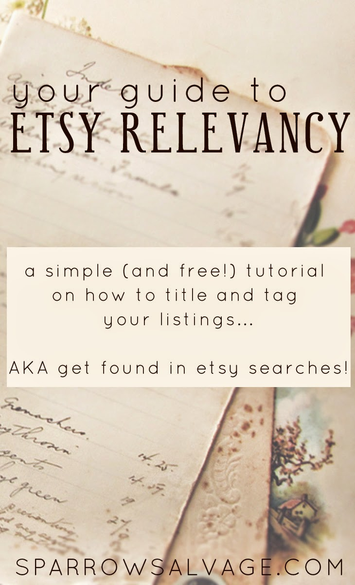 Etsy Relevancy and SEO tutorial