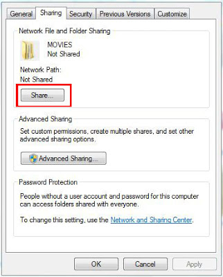 share folder in windows