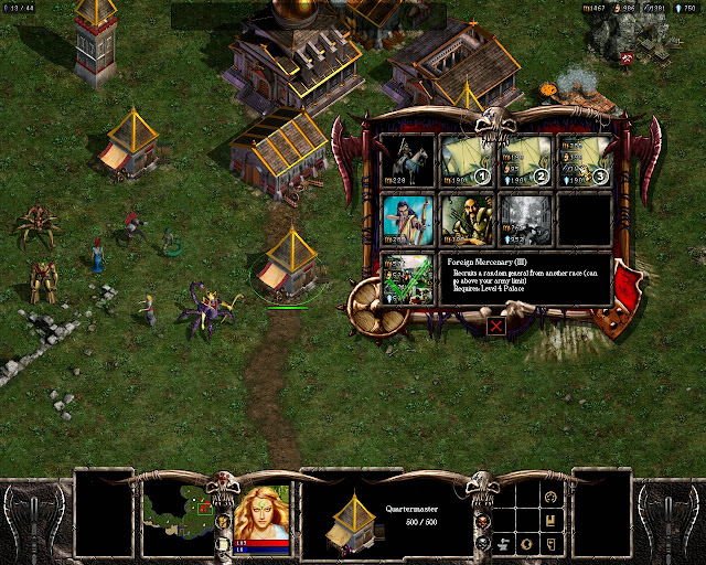 Warlords Battlecry 3 - Empire race Quartermasters Description