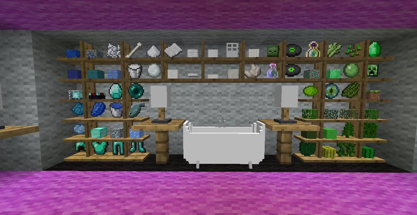 Decoracion Baño Minecraft: http://wwwminecrafteocom/bibliocraft-mod-para-minecraft-1-5-1